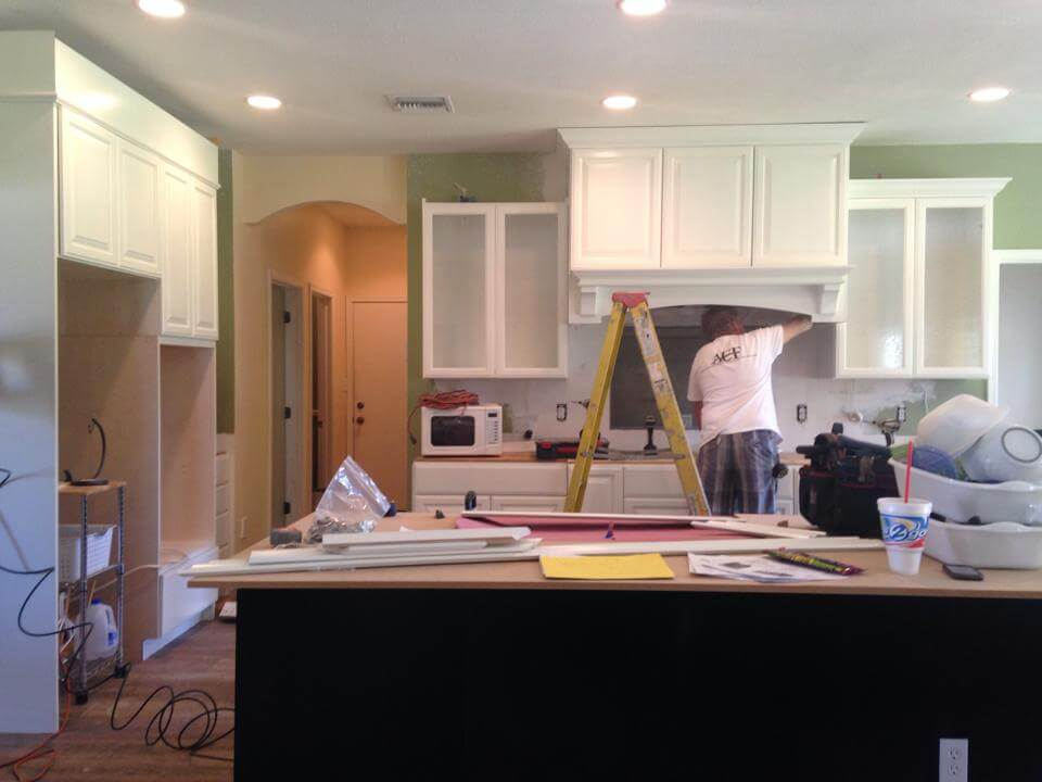 Installing white cabinets Gilbert Arizona