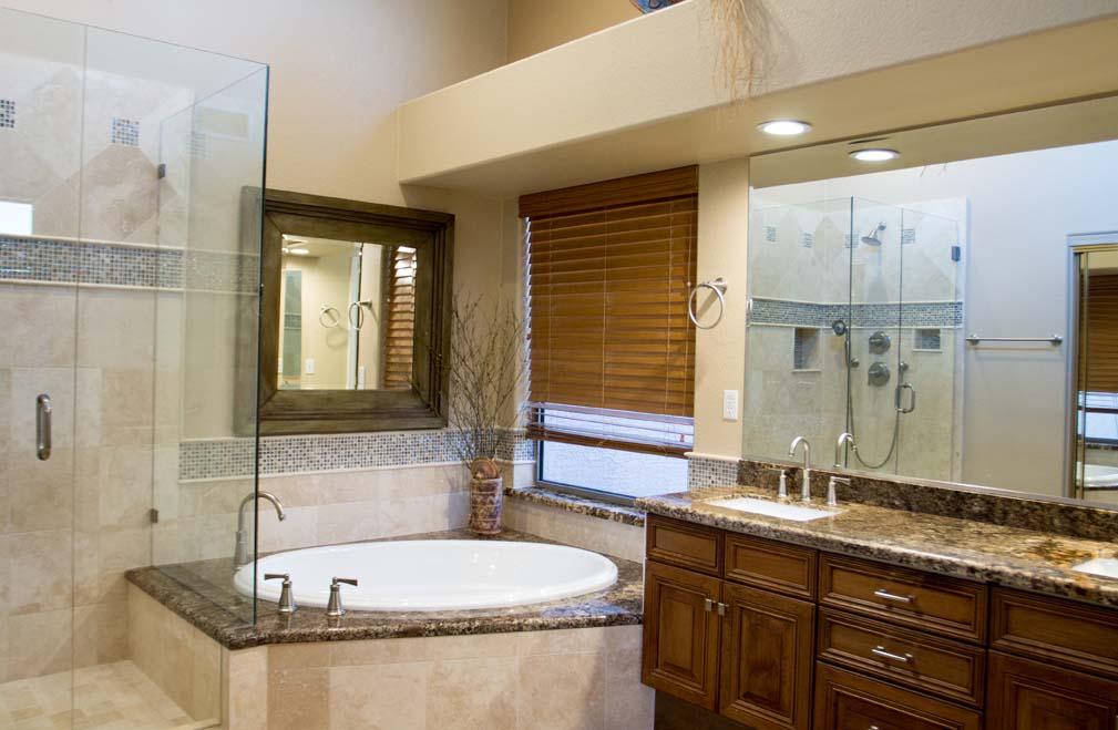 Home Makeover AZ master bath reface remodel