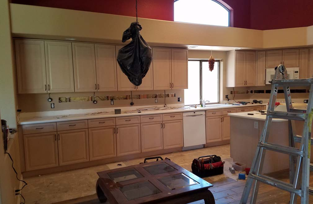 Southwestern Bath Remodel Cabinet Refacing Home Remodel Arizona Home Makeover AZ