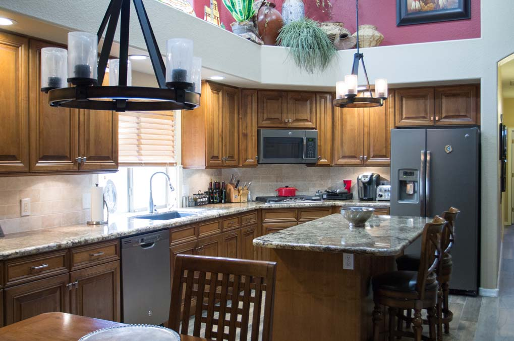 Southwestern Kitchen Remodel Cabinet Reface Home Remodel Gilbert Arizona Home Makeover AZ