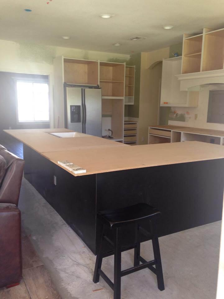 Templating granite kitchen remodel
