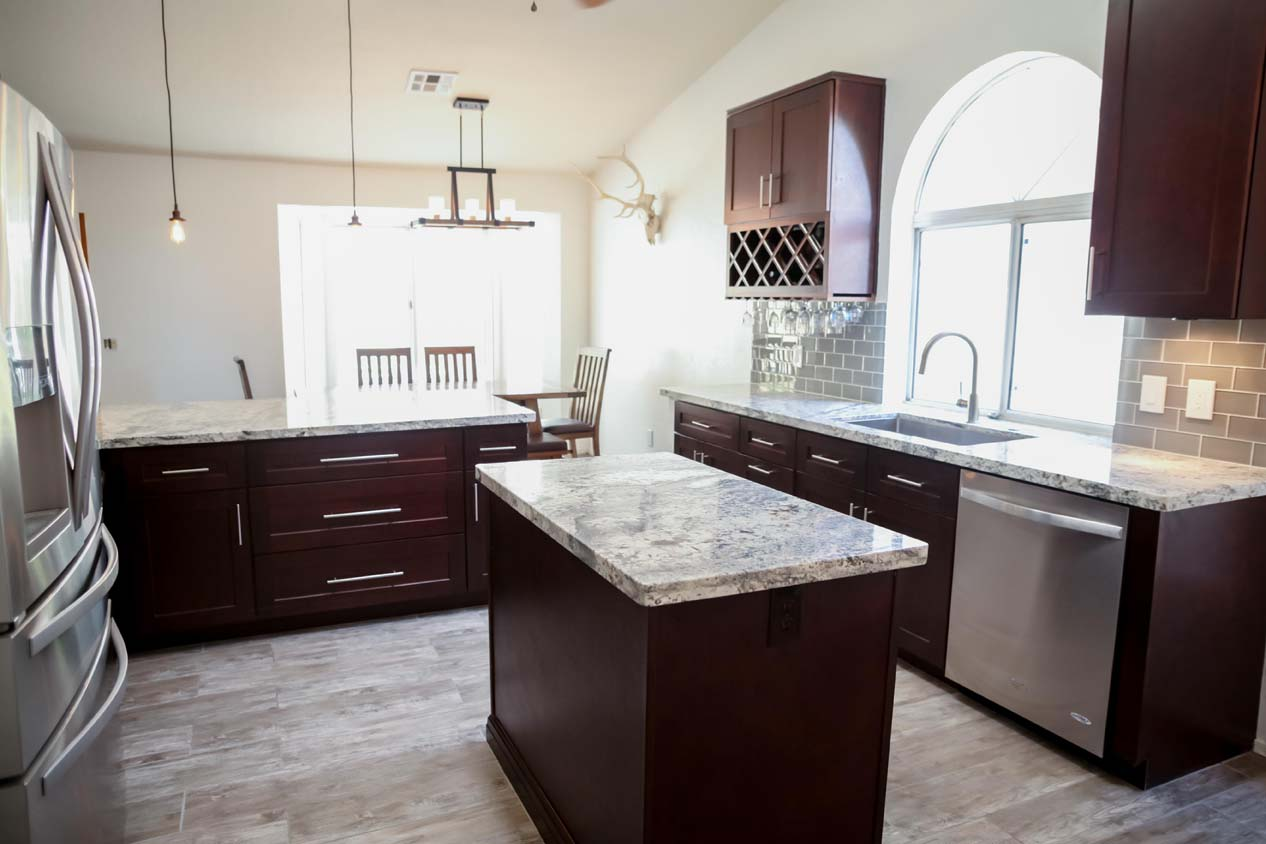 Open Concept Tempe Kitchen Remodel Home Makeover AZ