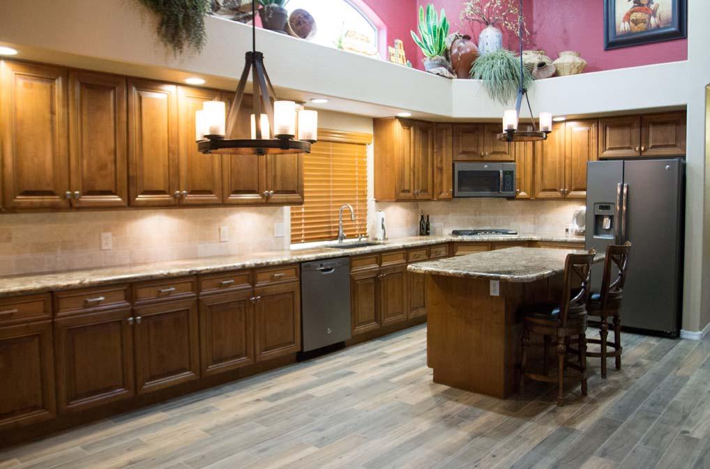 Southwestern Kitchen Remodel Cabinet Reface Home Remodel Arizona ...