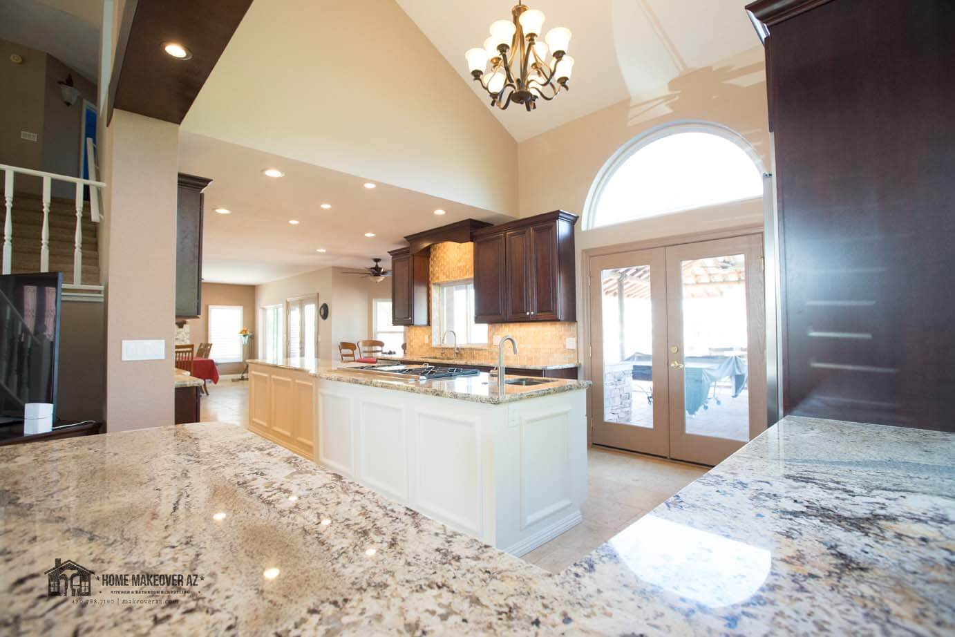 The Kitchen Had A Formal Dining Area With Vaulted Ceilings Before Homeowner Real Vision In Expanding Into That Just